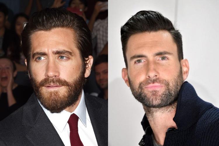barbe visage oblong