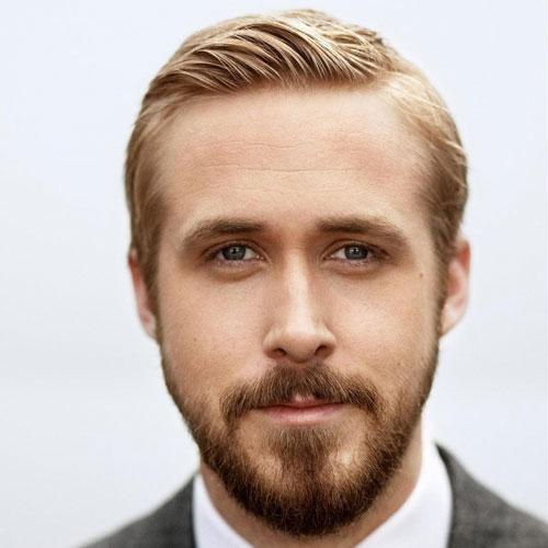 barbe visage triangle