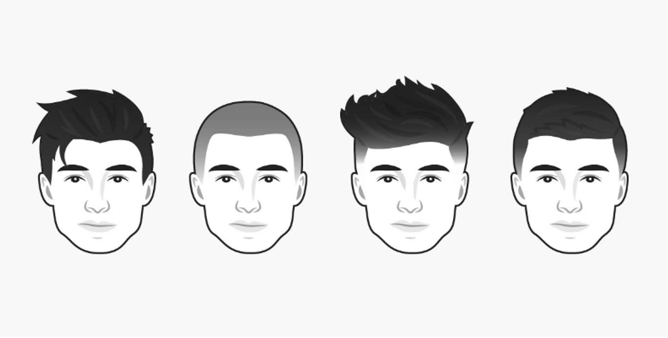 coiffure homme visage carré