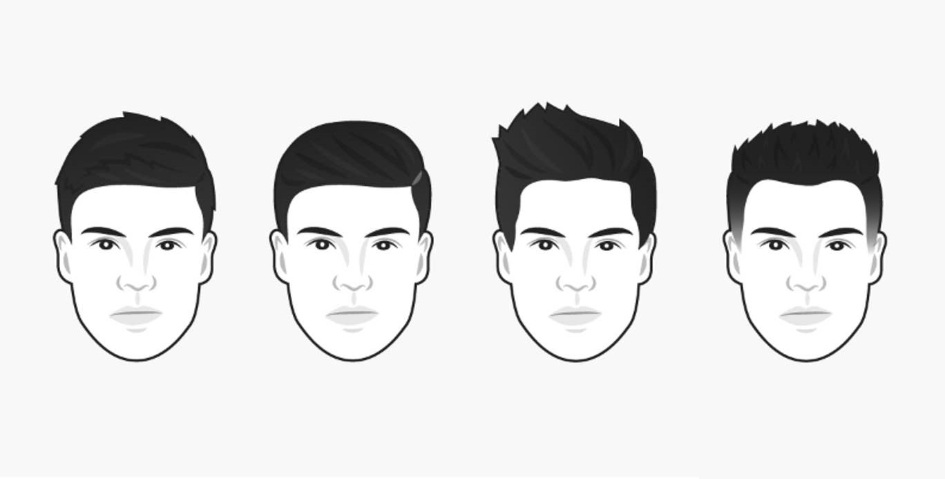 coiffure homme visage oblong