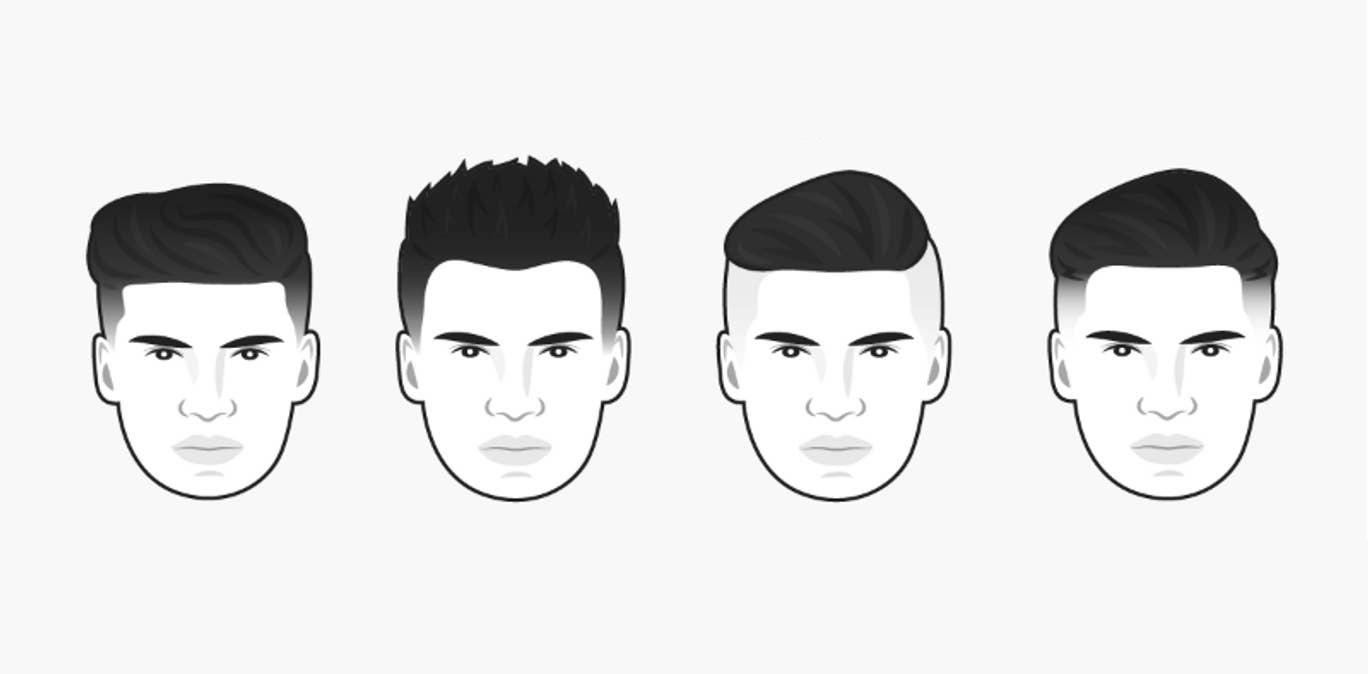 coiffure homme visage rond