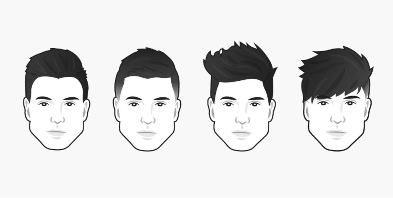coiffure homme visage triangulaire
