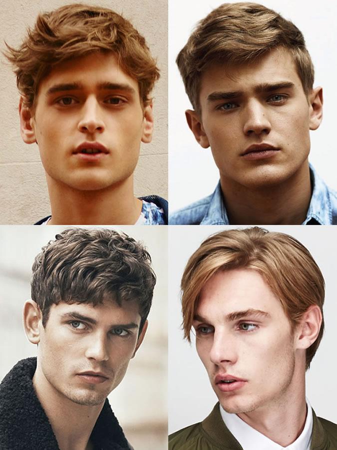 exemple coiffure homme visage diamant