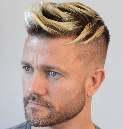COUPE CHEVEUX COURTS HOMME BLOND 8