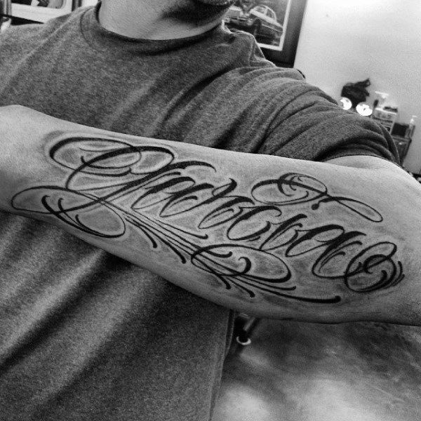 Nom Tatouage avant bras homme
