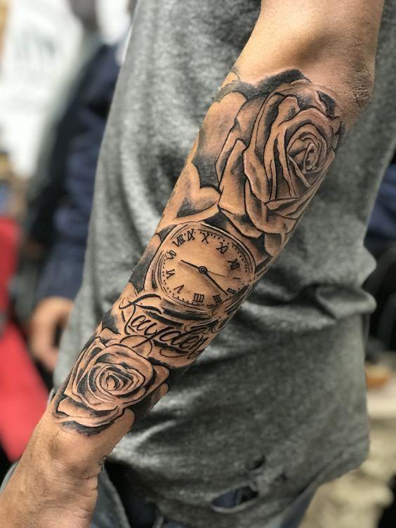 Tatouage extérieur de l'avant-bras