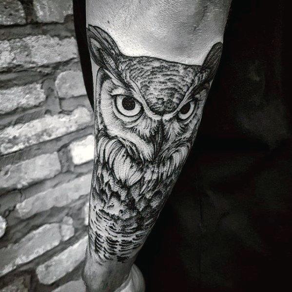 tattoo avant-bras homme Hibou