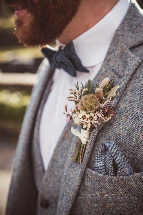 accessoires homme mariage champêtre