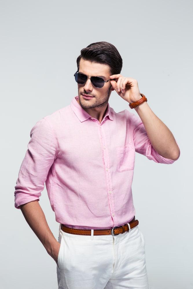 chemise-rose-homme