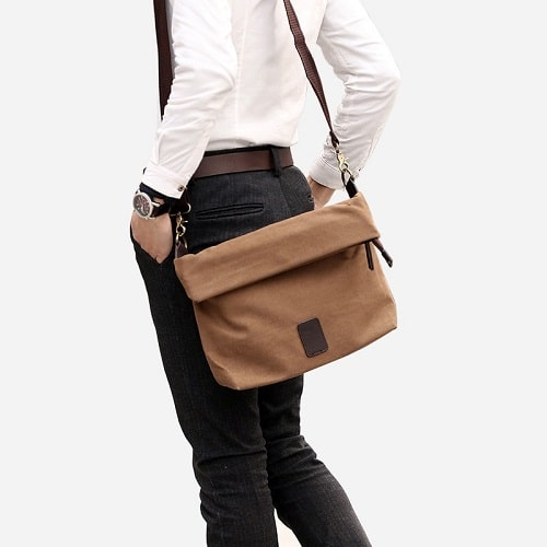sac besace homme toile