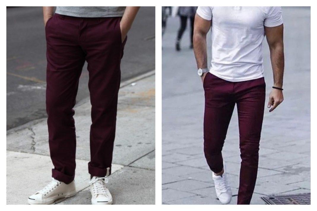 pantalon bordeaux homme looks