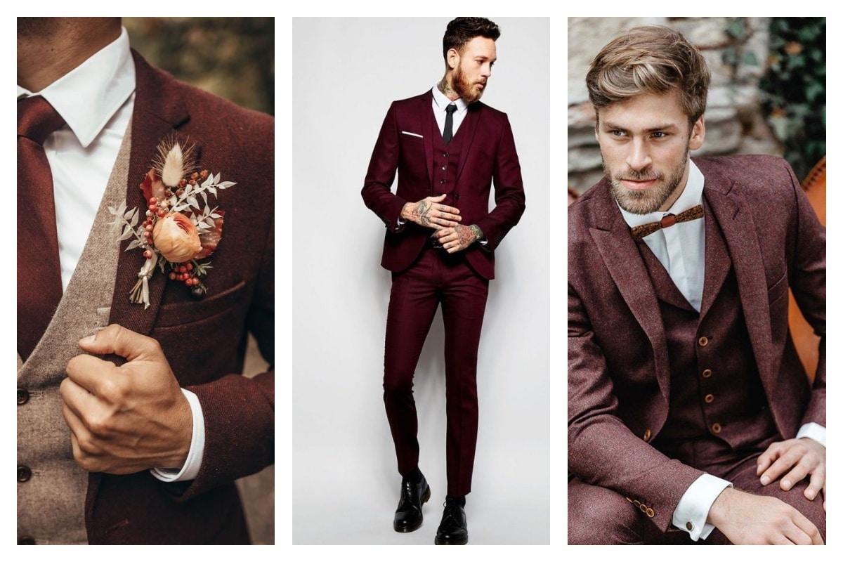 pantalon bordeaux homme mariage