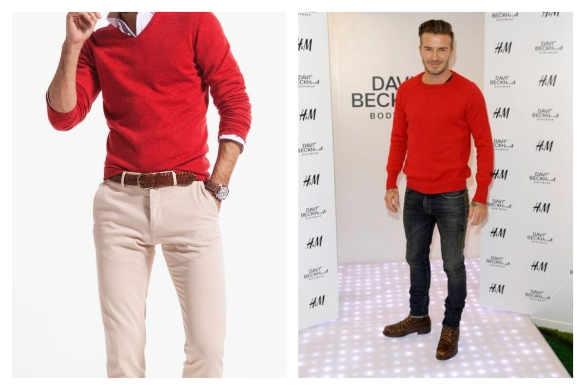 pull rouge pour homme