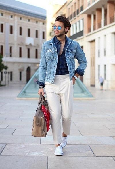 le pantalon blanc homme