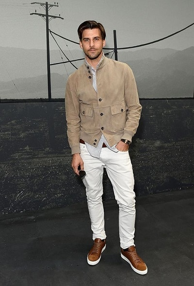pantalon blanc homme