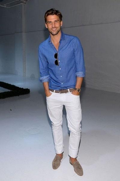 pantalon blanc pour homme