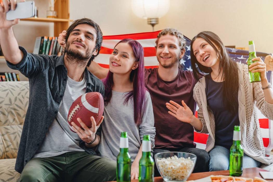 soirée à thème sports américains