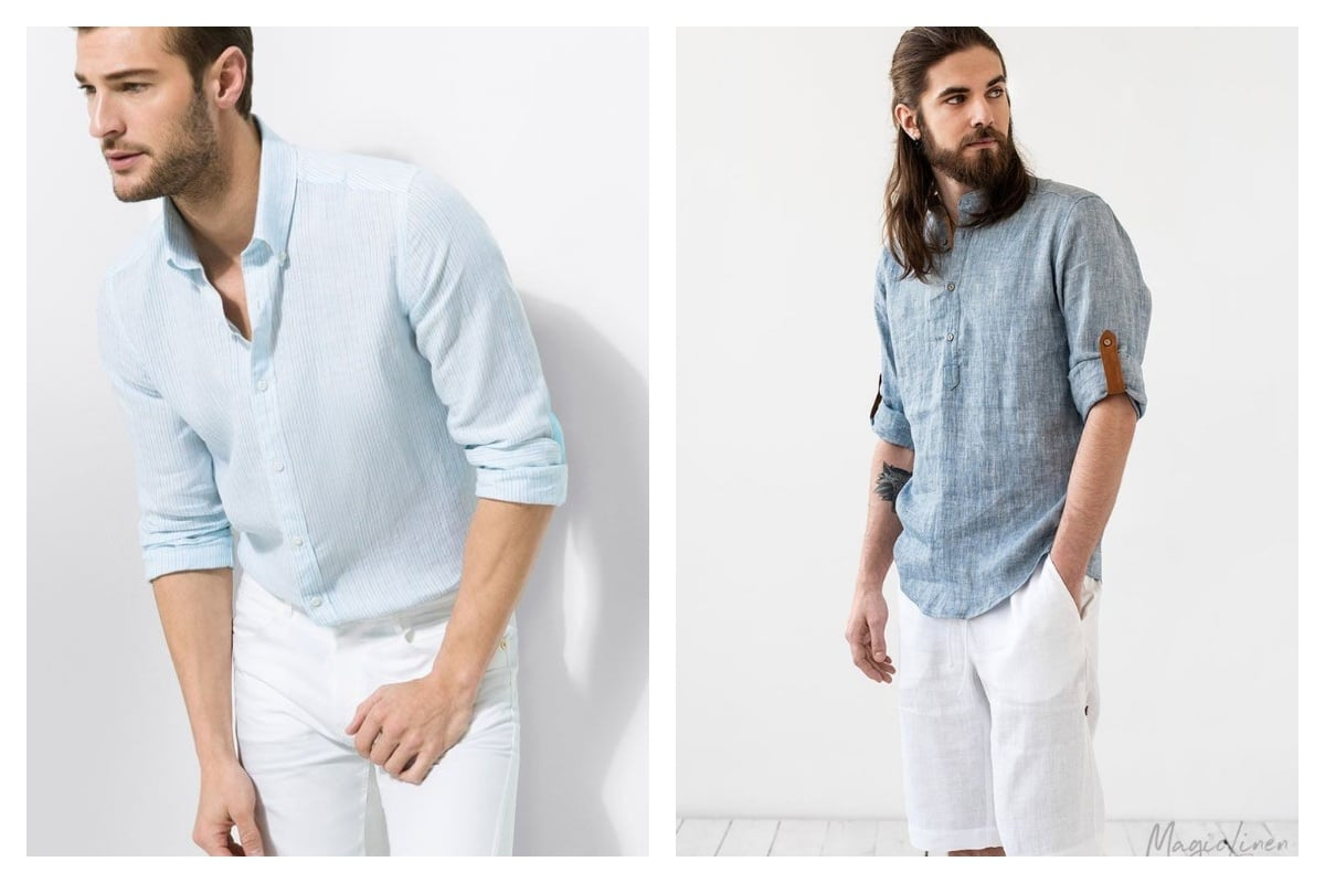 chemise en lin homme