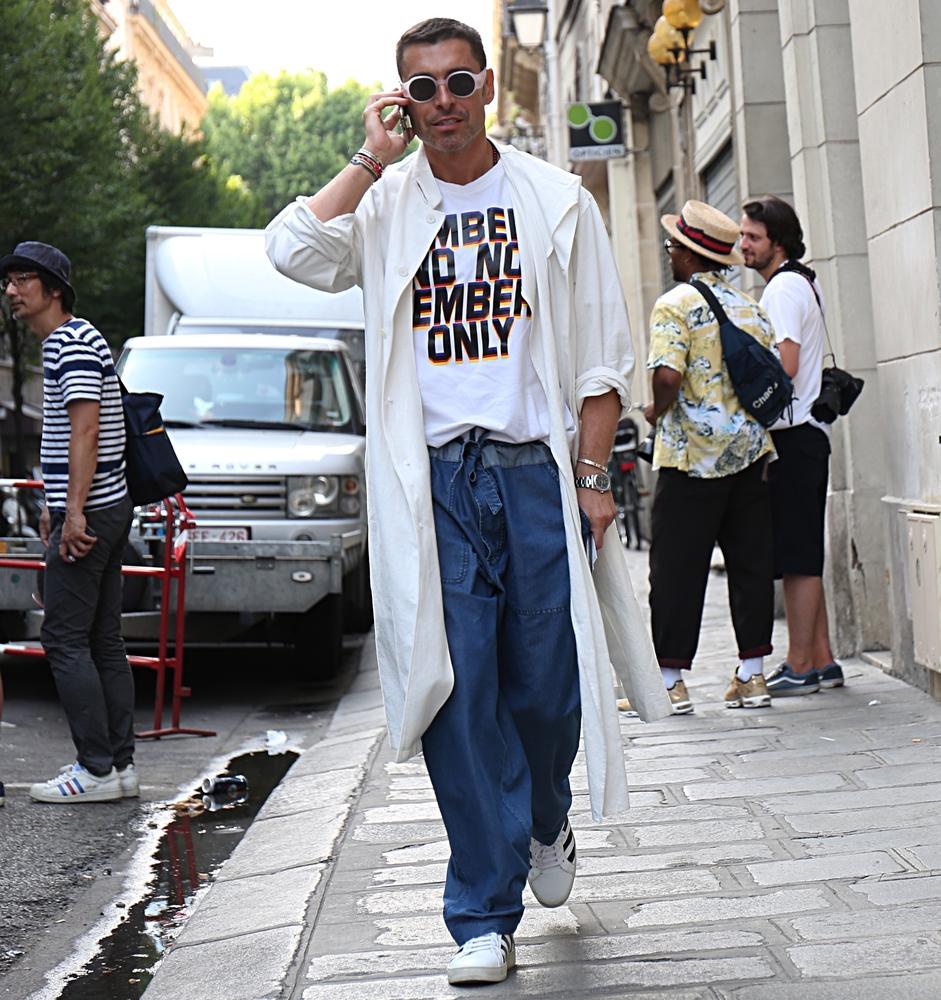 pantalon large homme